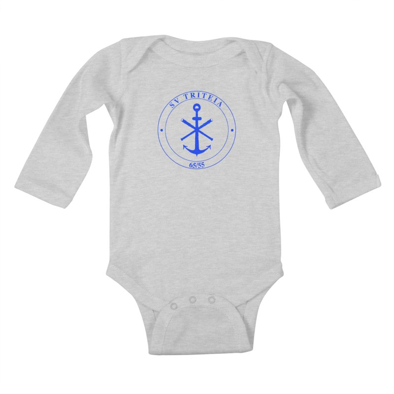 Sailing Vessel Triteia - AWBS logo Kids Baby Longsleeve Bodysuit by Sailor James