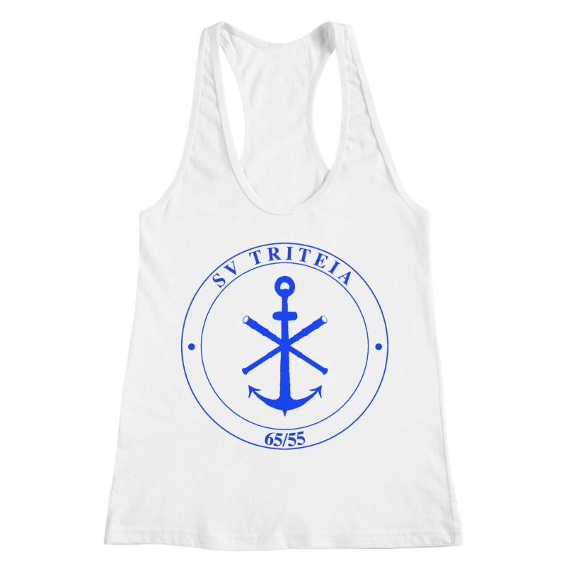 Sailing Vessel Triteia - AWBS logo Women's Racerback Tank by Sailor James