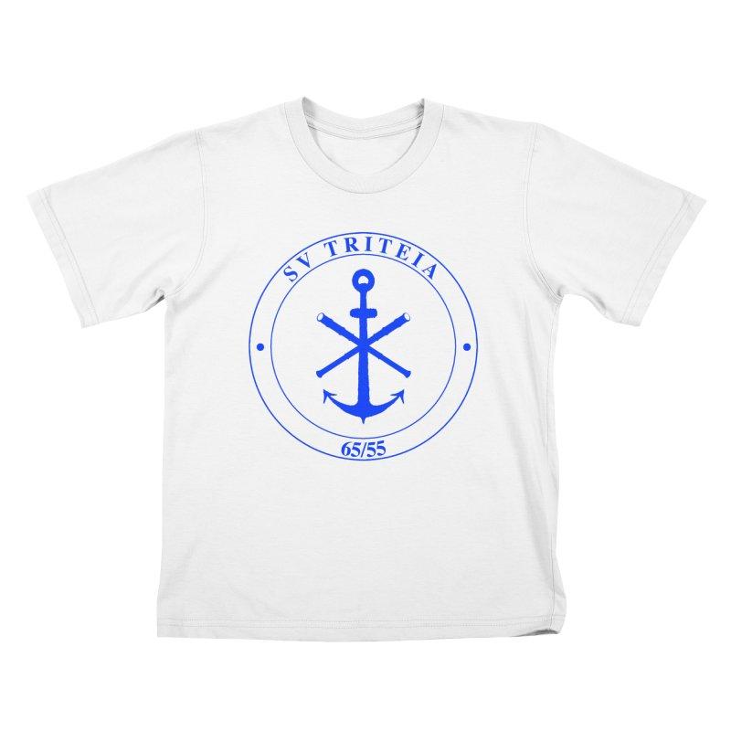 Sailing Vessel Triteia - AWBS logo Kids T-Shirt by Sailor James