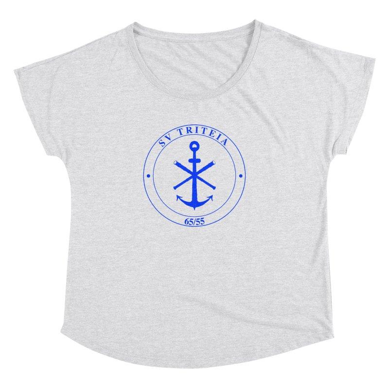 Sailing Vessel Triteia - AWBS logo Women's Dolman Scoop Neck by Sailor James