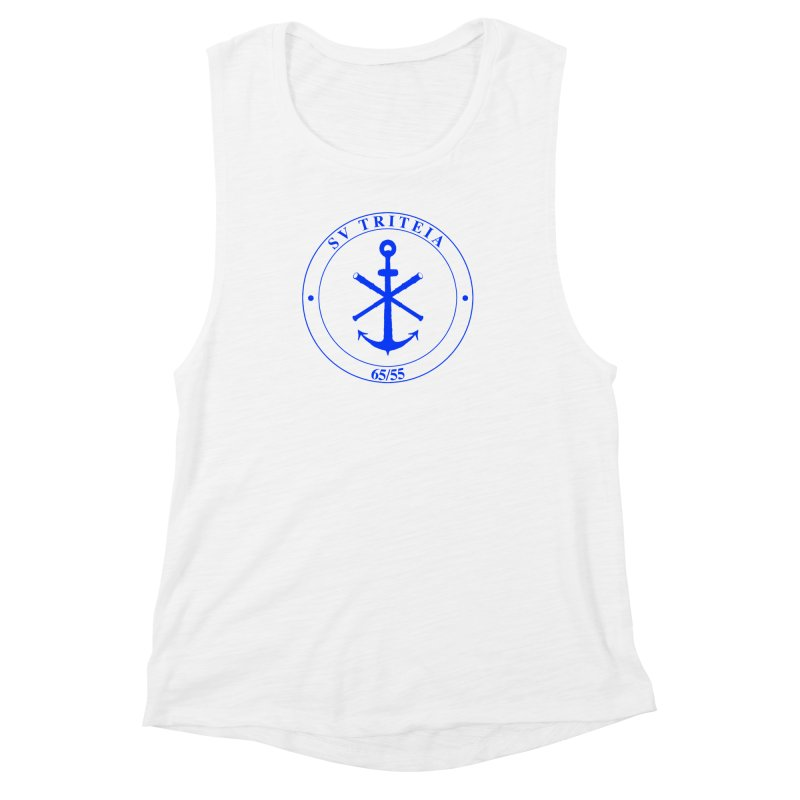 Sailing Vessel Triteia - AWBS logo Women's Muscle Tank by Sailor James