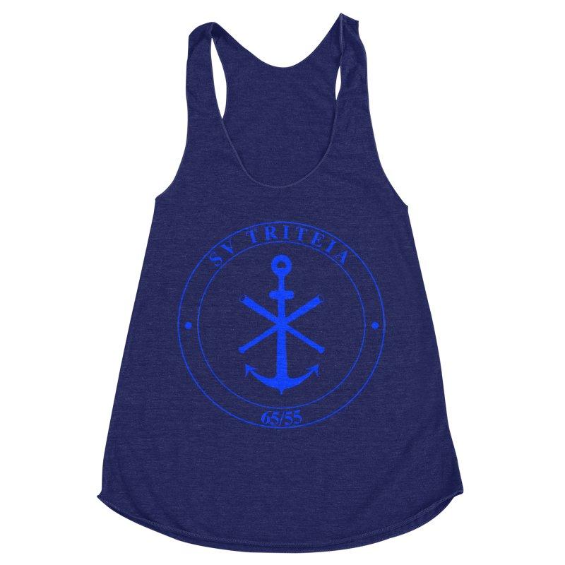 Sailing Vessel Triteia - AWBS logo Women's Racerback Triblend Tank by Sailor James