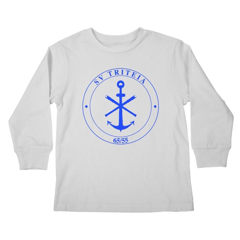 Sailing Vessel Triteia - AWBS logo Kids Longsleeve T-Shirt by Sailor James