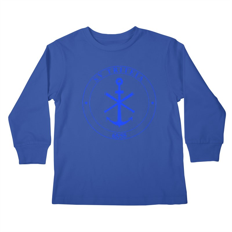 Sailing Vessel Triteia - AWBS logo Kids Longsleeve T-Shirt by Sailor James