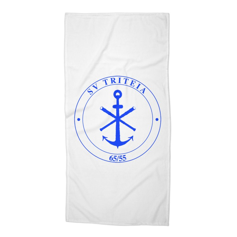 Sailing Vessel Triteia - AWBS logo Accessories Beach Towel by Sailor James