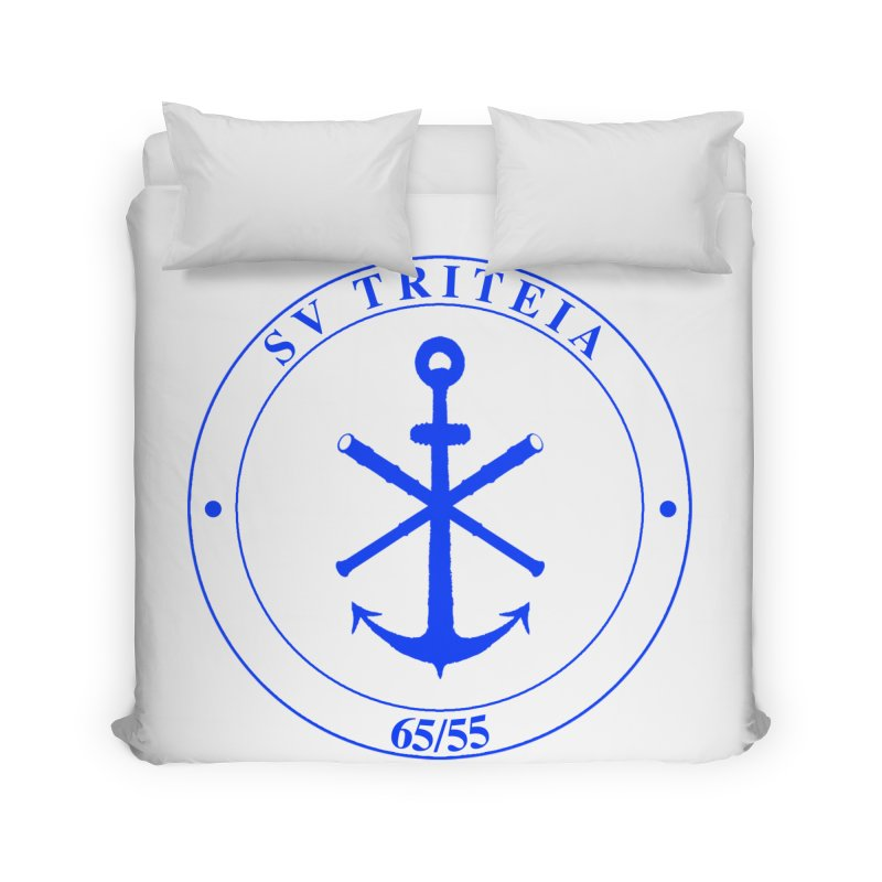 Sailing Vessel Triteia - AWBS logo Home Duvet by Sailor James