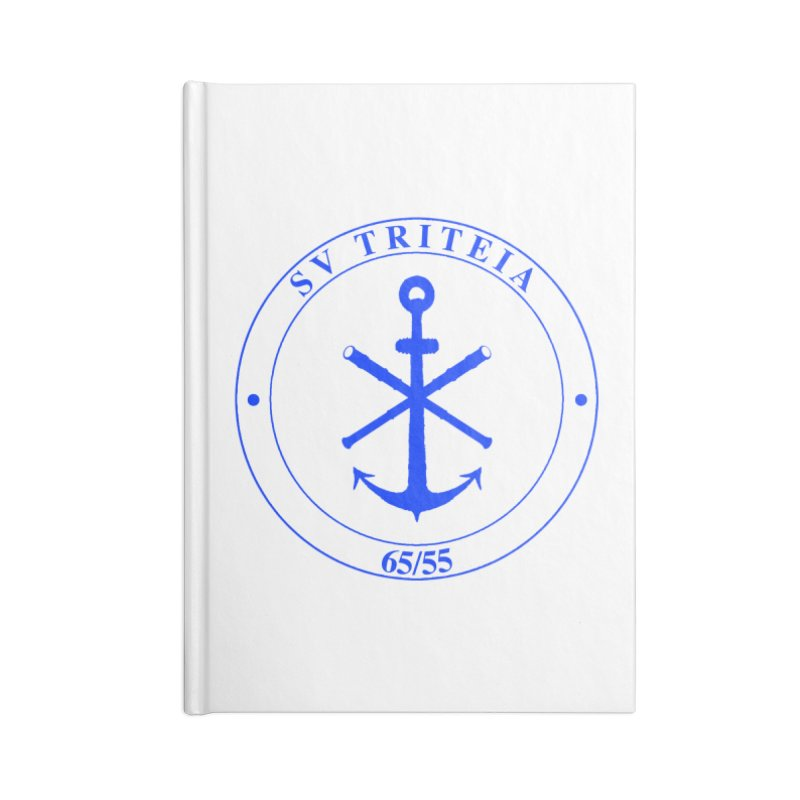 Sailing Vessel Triteia - AWBS logo Accessories Lined Journal Notebook by Sailor James