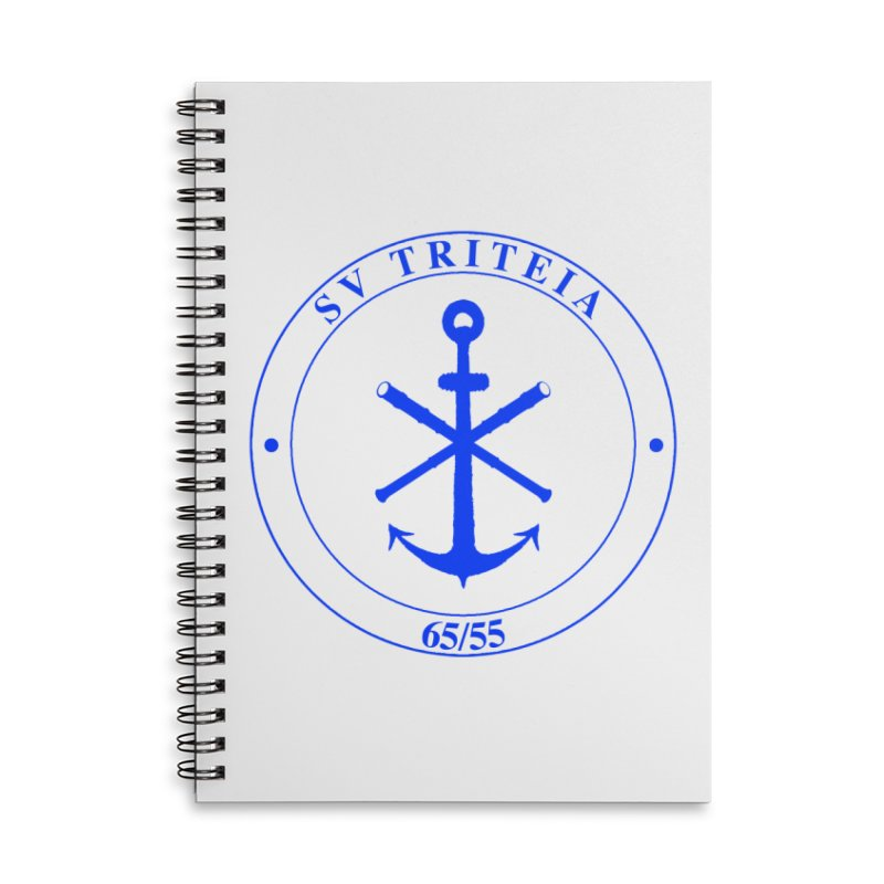 Sailing Vessel Triteia - AWBS logo Accessories Lined Spiral Notebook by Sailor James