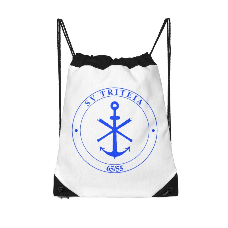 Sailing Vessel Triteia - AWBS logo Accessories Drawstring Bag Bag by Sailor James