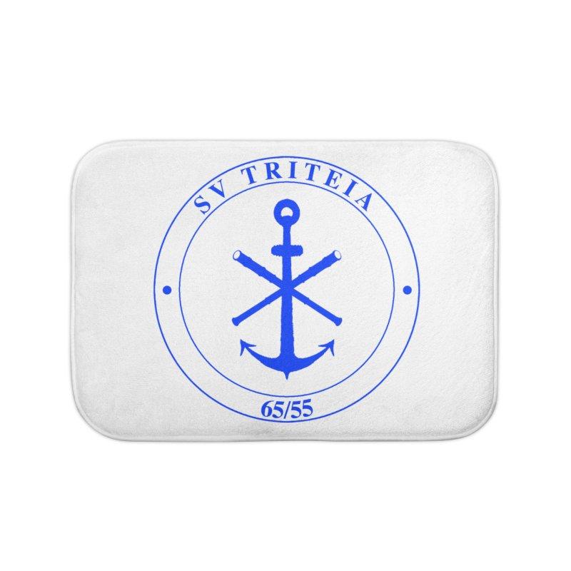 Sailing Vessel Triteia - AWBS logo Home Bath Mat by Sailor James