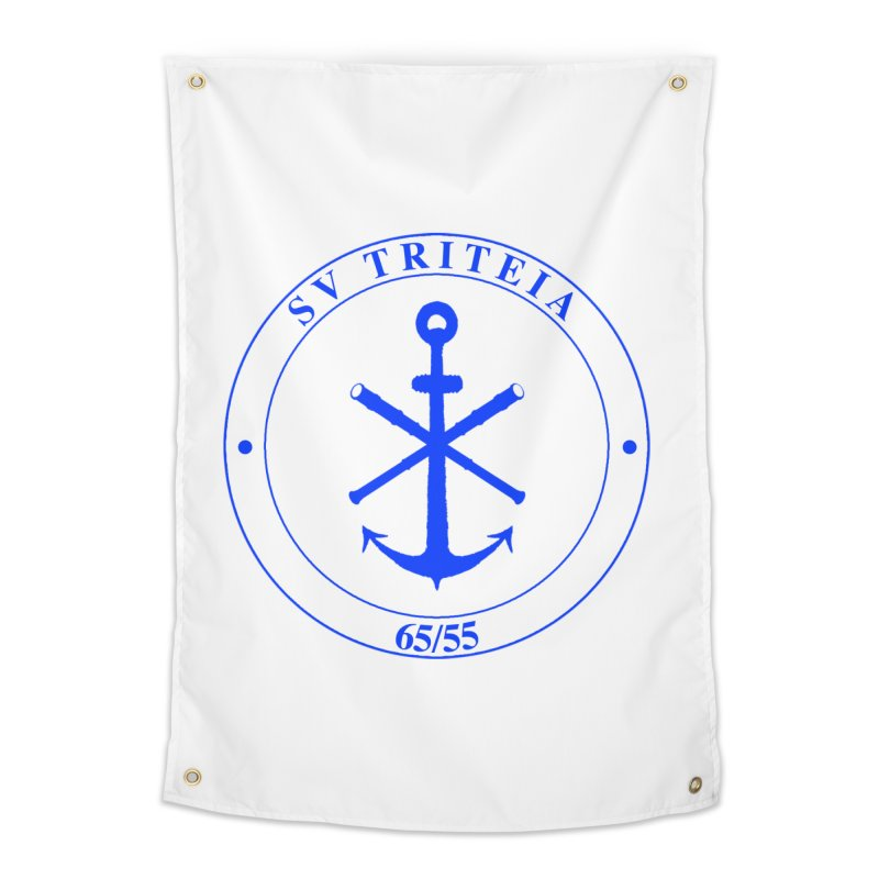 Sailing Vessel Triteia - AWBS logo Home Tapestry by Sailor James
