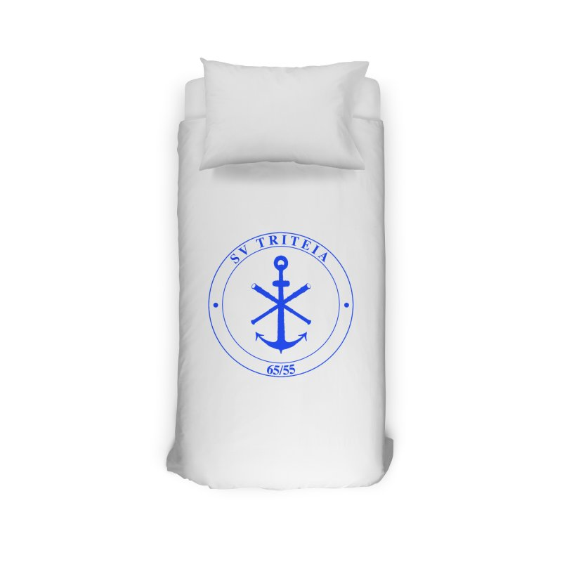 Sailing Vessel Triteia - AWBS logo Home Duvet by Sailor James