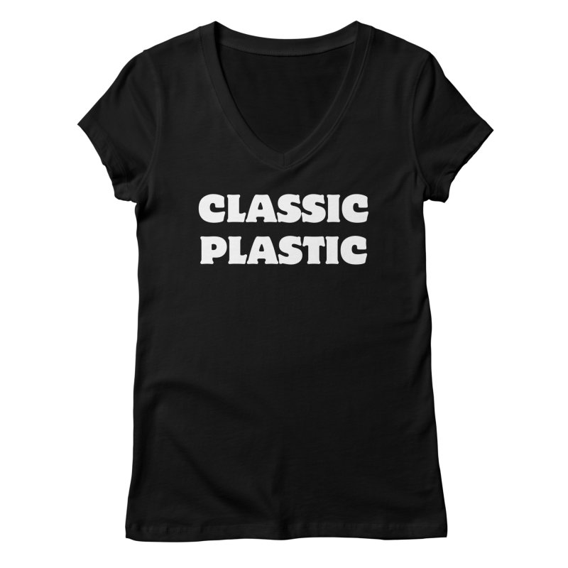 Classic Plastic, for all of us Vintage Boat Lovers Women's Regular V-Neck by Sailor James