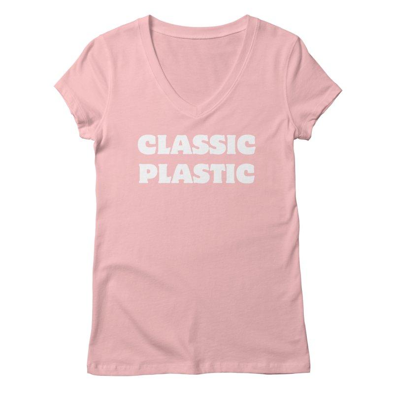 Classic Plastic, for all of us Vintage Boat Lovers Women's Regular V-Neck by Sailor James
