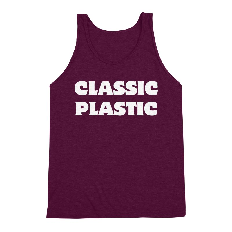 Classic Plastic, for all of us Vintage Boat Lovers Men's Triblend Tank by Sailor James