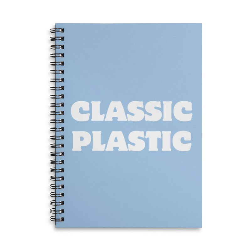 Classic Plastic, for all of us Vintage Boat Lovers Accessories Lined Spiral Notebook by Sailor James