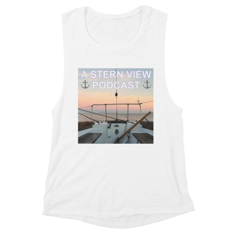 A STERN VIEW PODCAST Women's Muscle Tank by Sailor James