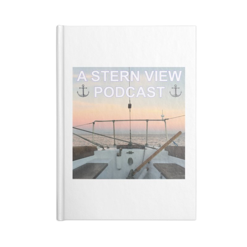 A STERN VIEW PODCAST Accessories Lined Journal Notebook by Sailor James