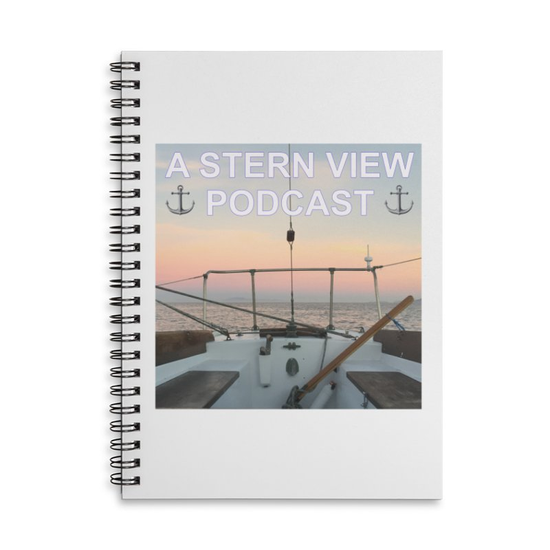 A STERN VIEW PODCAST Accessories Lined Spiral Notebook by Sailor James