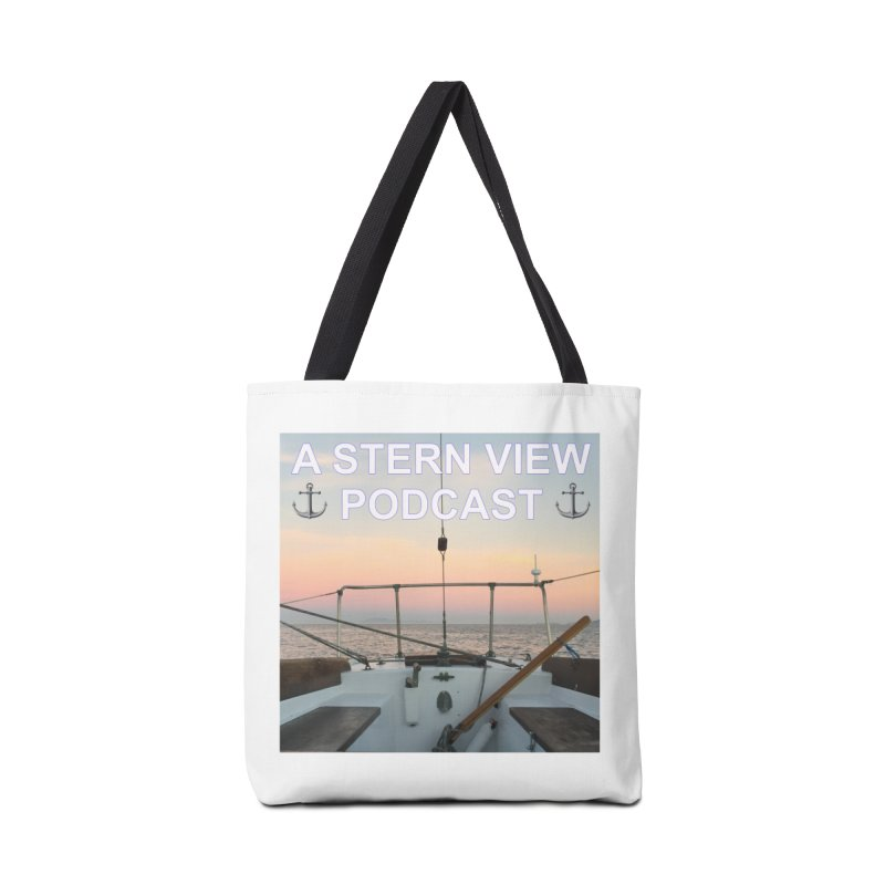 A STERN VIEW PODCAST in Tote Bag by Sailor James