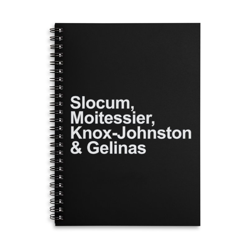 Single-Handers Accessories Lined Spiral Notebook by Sailor James