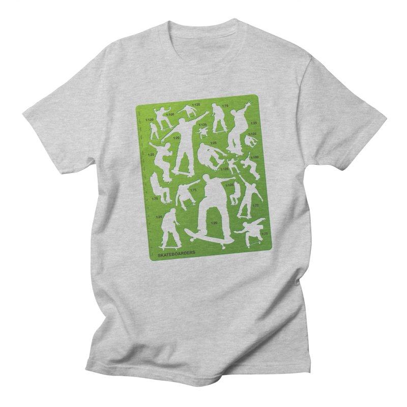 Skateboarders Stencil Men's T-Shirt by swarm's Artist Shop