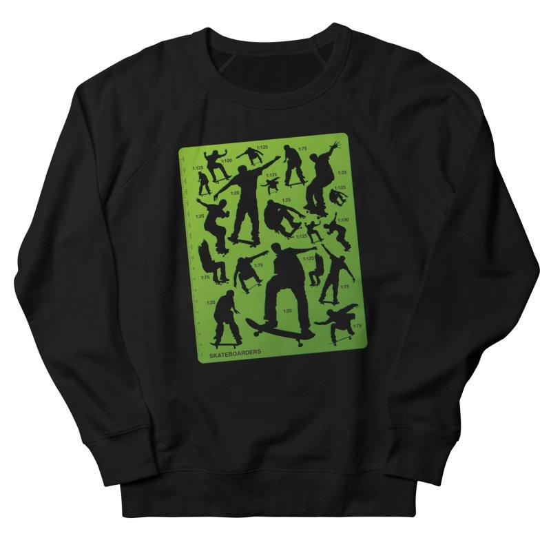 Skateboarders Stencil Men's Sweatshirt by swarm's Artist Shop
