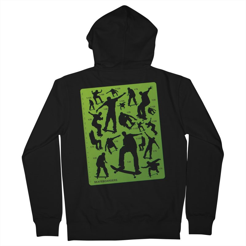 Skateboarders Stencil Women's Zip-Up Hoody by swarm's Artist Shop