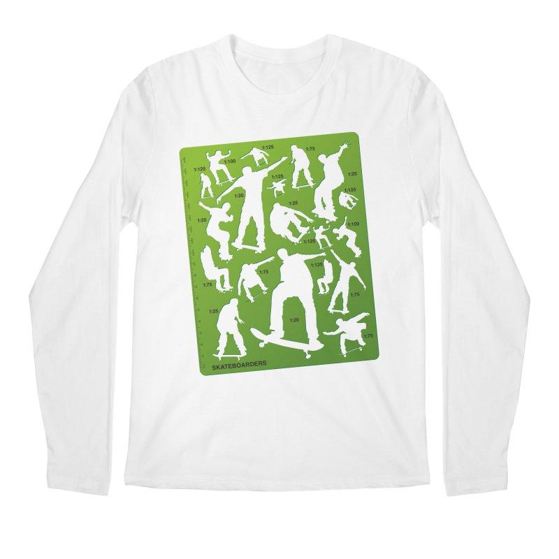 Skateboarders Stencil Men's Regular Longsleeve T-Shirt by swarm's Artist Shop