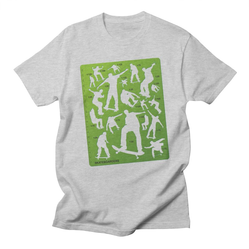Skateboarders Stencil in Men's T-shirt Heather Grey by swarm's Artist Shop