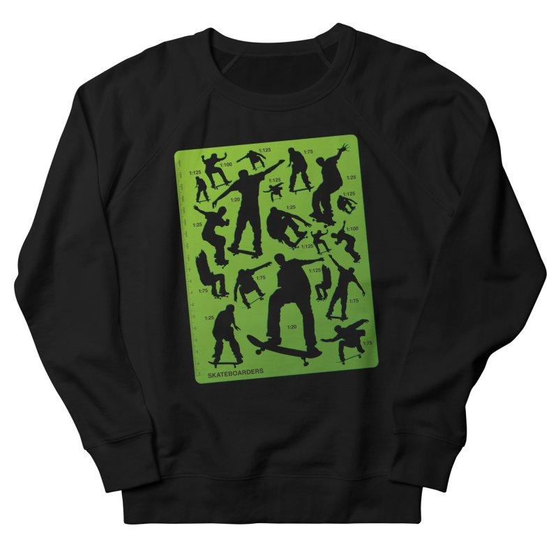 Skateboarders Stencil Women's French Terry Sweatshirt by swarm's Artist Shop