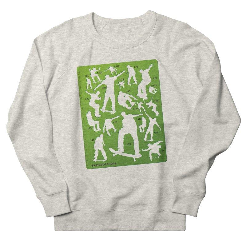 Skateboarders Stencil Women's Sweatshirt by swarm's Artist Shop