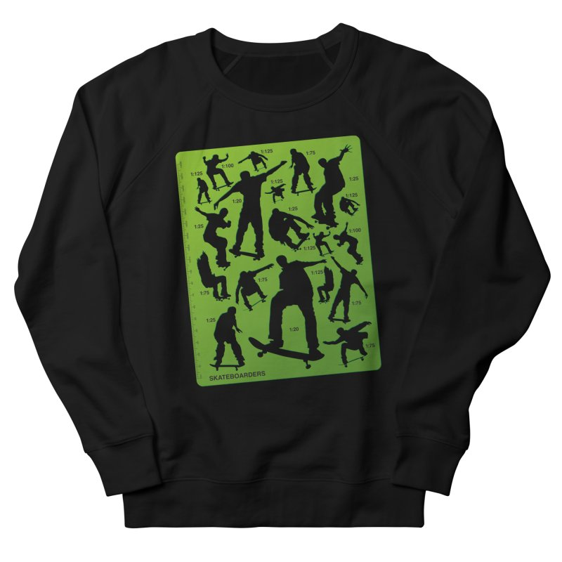 Skateboarders Stencil Men's Sweatshirt by swarm's Artist Shop