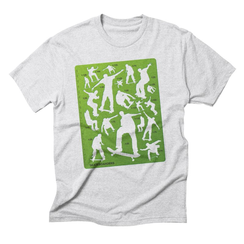 Skateboarders Stencil Men's Triblend T-Shirt by swarm's Artist Shop
