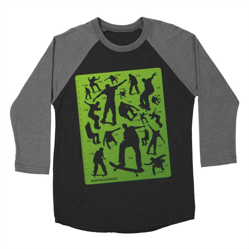 Skateboarders Stencil Women's Baseball Triblend T-Shirt by swarm's Artist Shop
