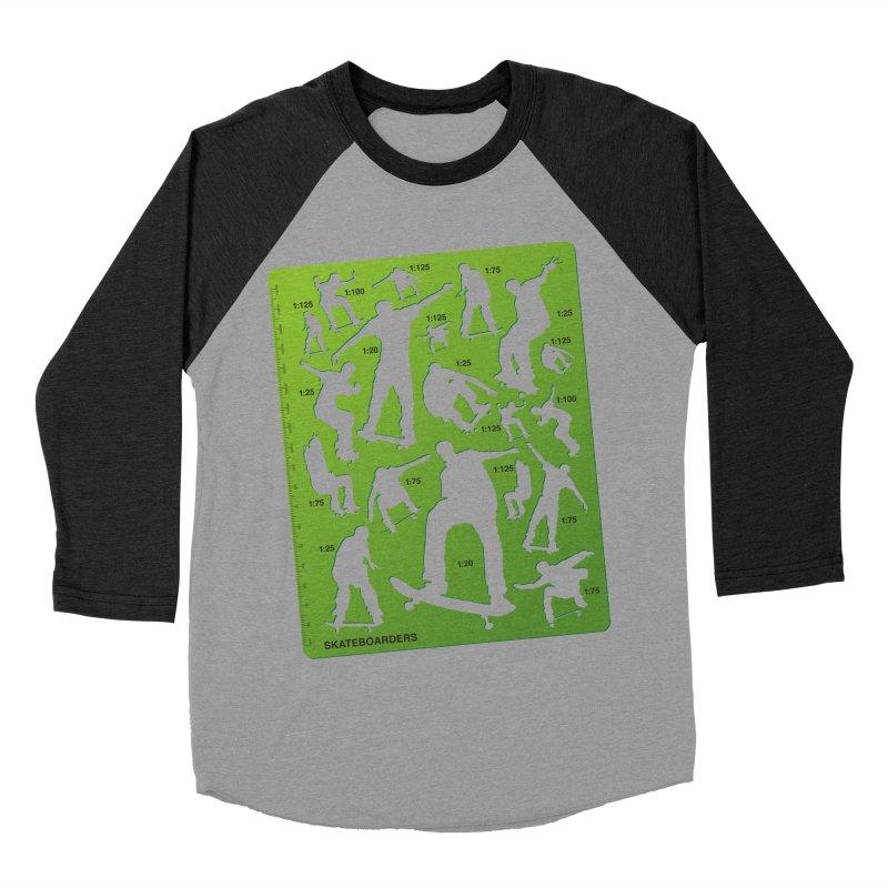 Skateboarders Stencil Women's Baseball Triblend T-Shirt by swarm's Artist Shop