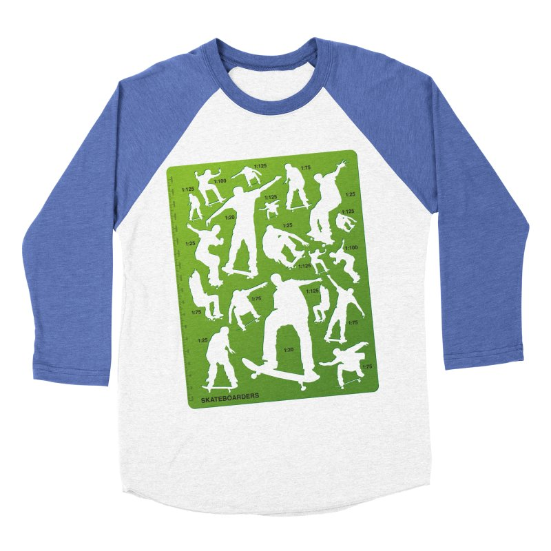 Skateboarders Stencil Men's Baseball Triblend T-Shirt by swarm's Artist Shop