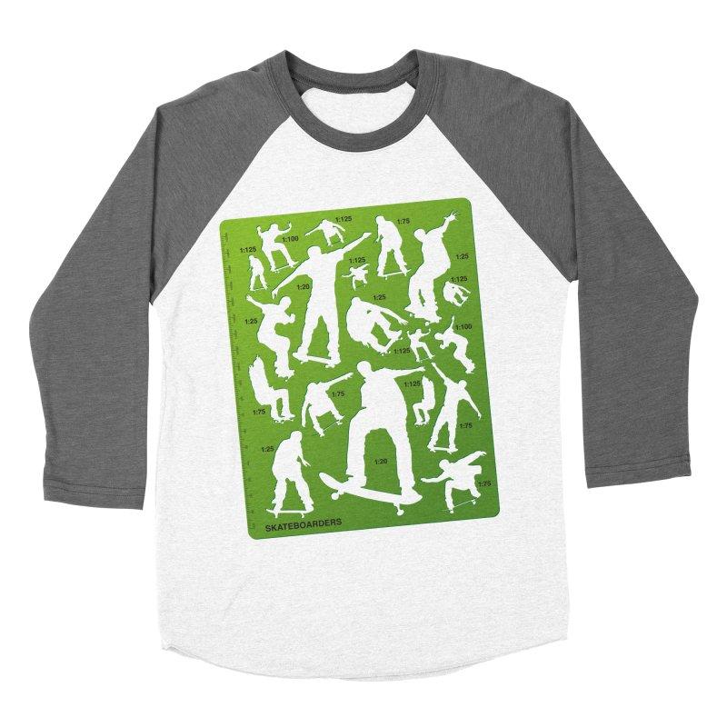 Skateboarders Stencil Men's Baseball Triblend T-Shirt by swarm's Artist Shop