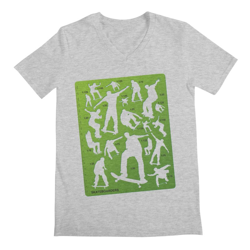 Skateboarders Stencil Men's V-Neck by swarm's Artist Shop
