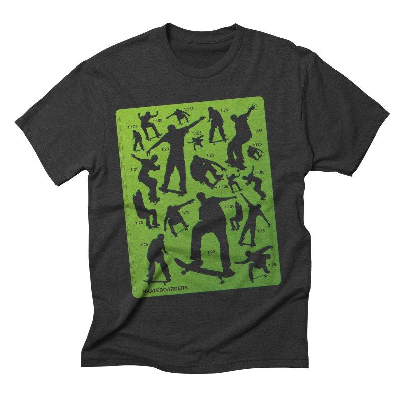 Skateboarders Stencil Men's Triblend T-shirt by swarm's Artist Shop