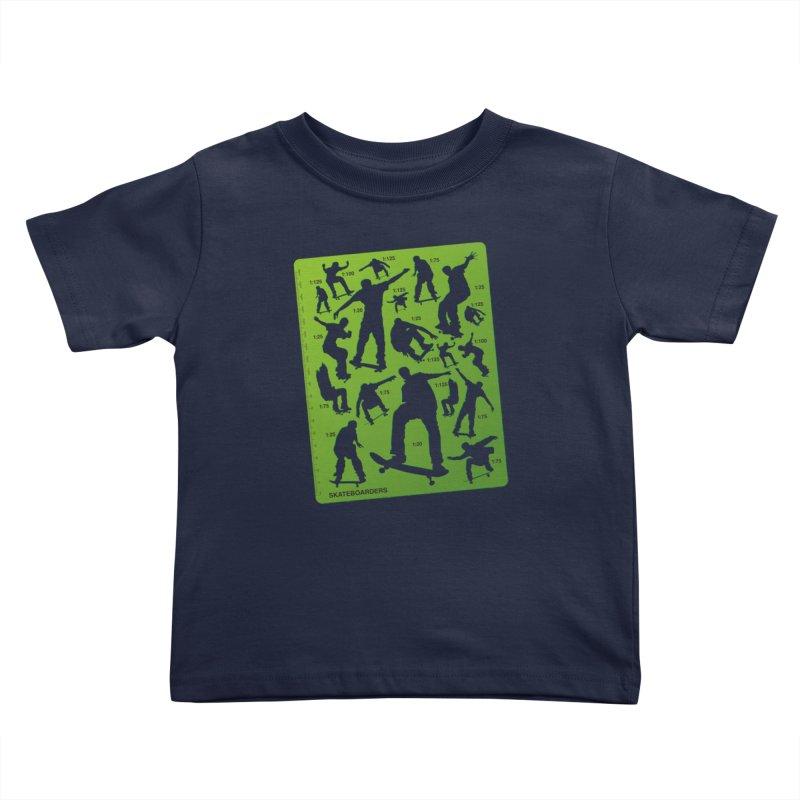 Skateboarders Stencil Kids Toddler T-Shirt by swarm's Artist Shop