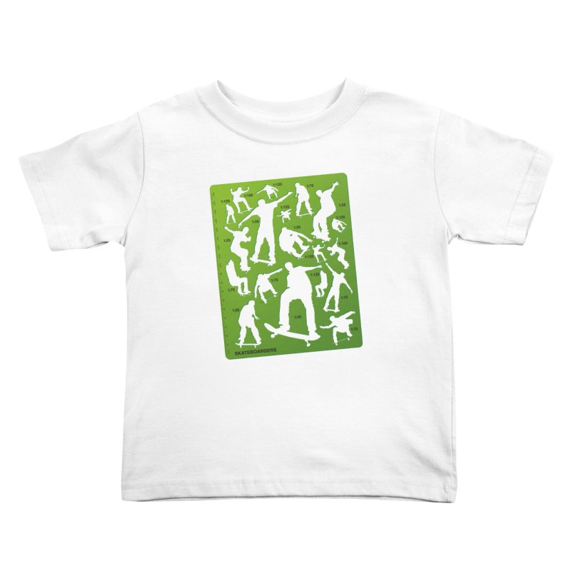 Skateboarders Stencil Kids Toddler T-Shirt by swarm's Artist Shop