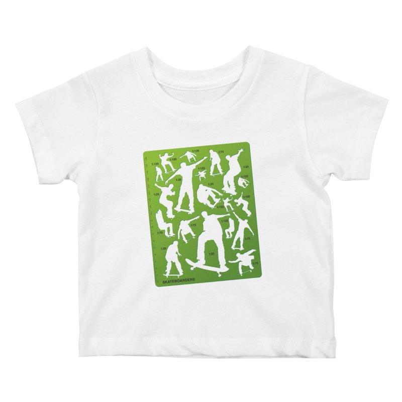 Skateboarders Stencil Kids Baby T-Shirt by swarm's Artist Shop