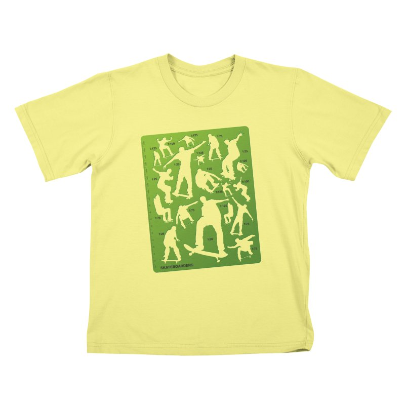 Skateboarders Stencil Kids T-shirt by swarm's Artist Shop