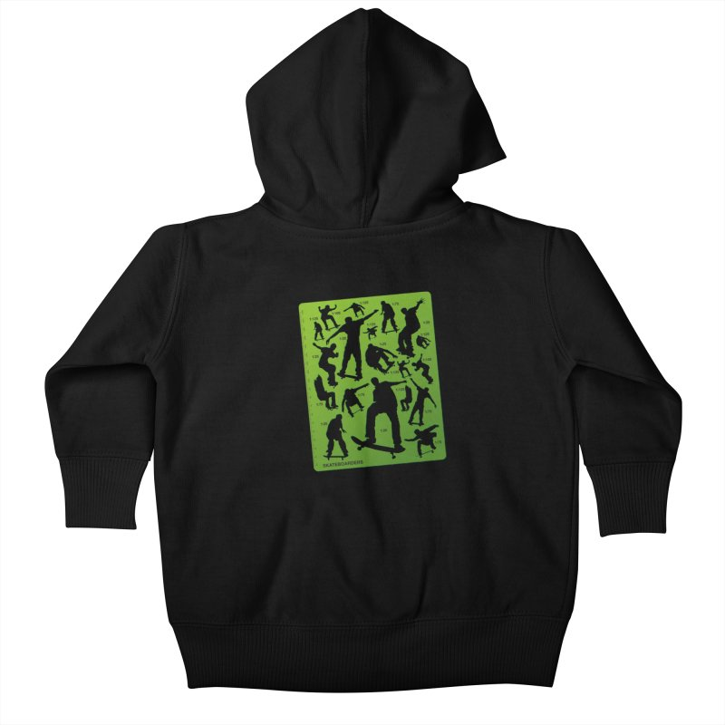 Skateboarders Stencil Kids Baby Zip-Up Hoody by swarm's Artist Shop