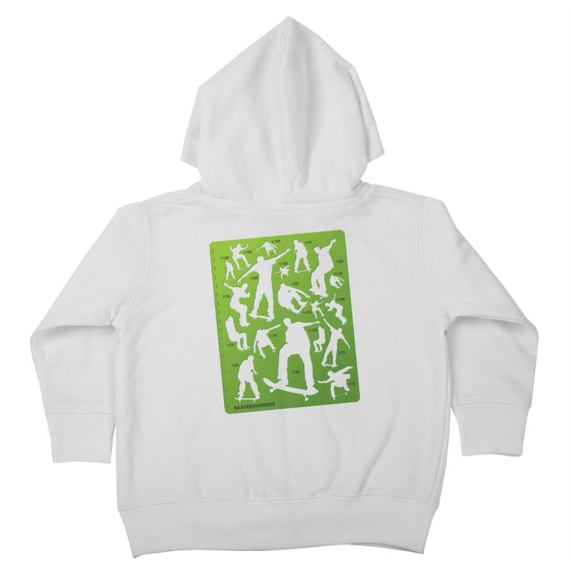 Skateboarders Stencil Kids Toddler Zip-Up Hoody by swarm's Artist Shop