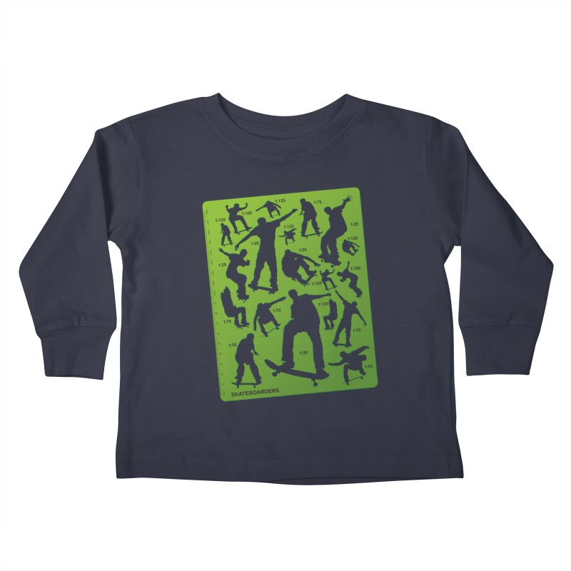 Skateboarders Stencil Kids Toddler Longsleeve T-Shirt by swarm's Artist Shop