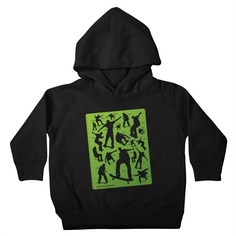 Skateboarders Stencil Kids Toddler Pullover Hoody by swarm's Artist Shop