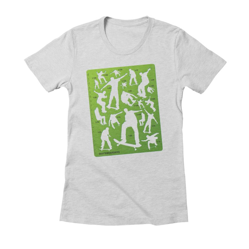 Skateboarders Stencil Women's Fitted T-Shirt by swarm's Artist Shop