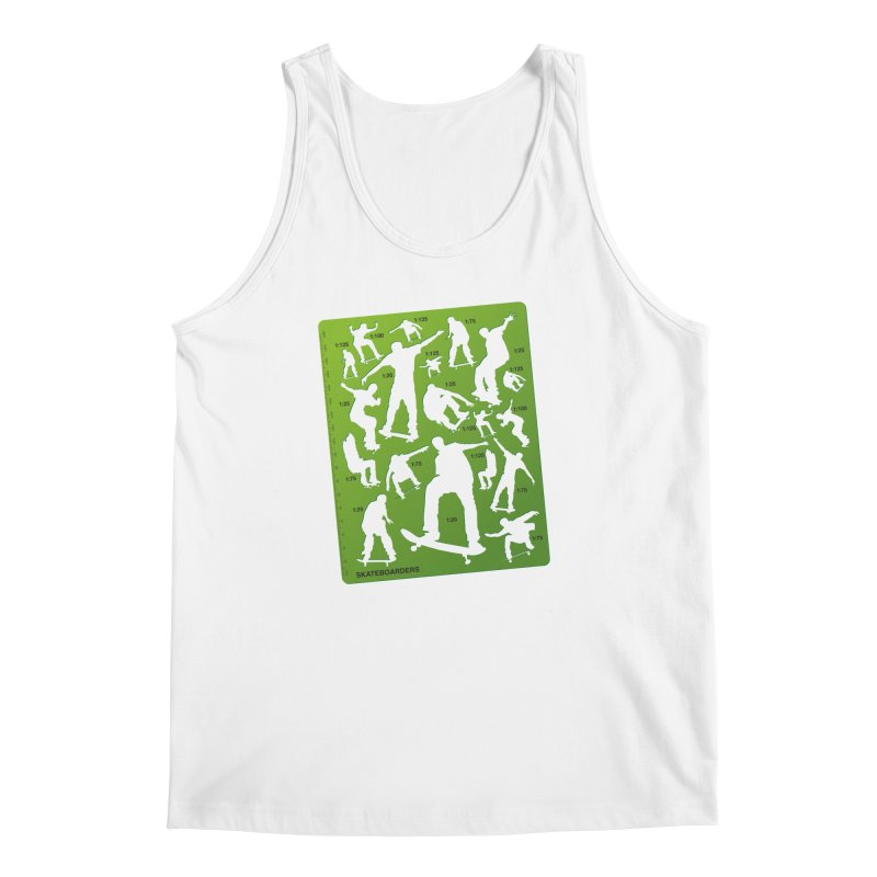 Skateboarders Stencil Men's Tank by swarm's Artist Shop